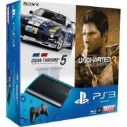 Дешево Новый Sony PS 3 Slim 500Gb много аксес-ров 45дисков, руль, скейт