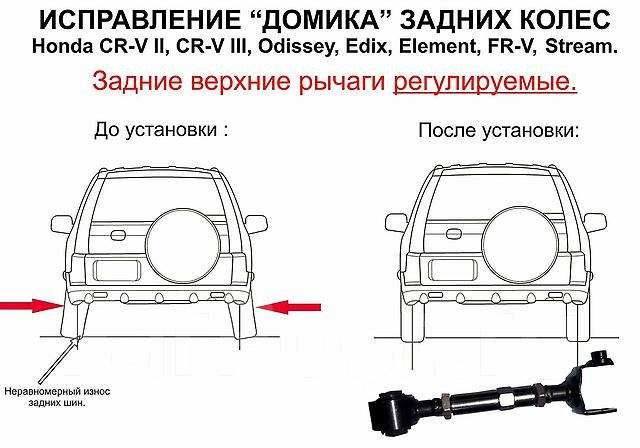 Рычаг подвески. Honda: Civic, FR-V, Edix, Crossroad, Odyssey, Element, Stream, CR-V Двигатели: PSGD02, PSGD53, PSJD04, PSJD06, PSJD55, PSHD58, PSJD57...
