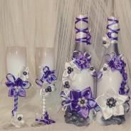 Свадебные бутылки на заказ.