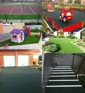 Покрытия из резиновой крошки для спорт-х и детских площадок, лестниц
