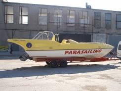 Продам катер для буксировки парашюта parasailing. Год: 2003 год, длина 9,70м., двигатель стационарный, 245,00л.с., дизель