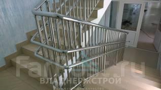 Пандус, лестницы, перила. нержавеющая сталь.
