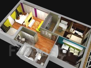 3-комнатная, улица Успенского 56а. Океанская, частное лицо, 90 кв.м. Интерьер