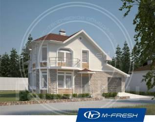 M-fresh Window Magic (Готовый проект красивого дома с гаражом! ). 100-200 кв. м., 2 этажа, 5 комнат, кирпич
