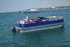 Большой Морской понтонный катамаран, идеален для организации дайвинга. Год: 2016 год, длина 7,65м., двигатель подвесной, 115,00л.с., бензин. Под зак...