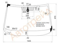 Стекло лобовое в клей SKODA OCTAVIA 4D SED 13- SAT SPG-OCTAVIA-13 LFW/X