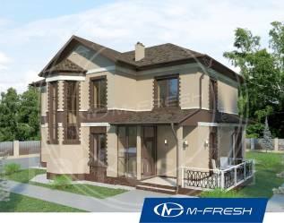 M-fresh Comfort Progressive (Готовый проект дома с эркером). 200-300 кв. м., 2 этажа, 5 комнат, бетон