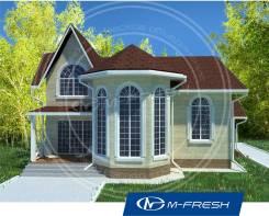 M-fresh Chill out (Проект дома с потрясающим эркером! ). 200-300 кв. м., 2 этажа, 5 комнат, комбинированный