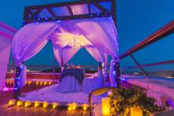 Романтический ужин Предложение руки и сердца Свидание на море на крыше
