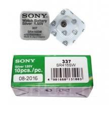 Батарейка Sony 337 / SR416SW для микронаушников и наручных часов