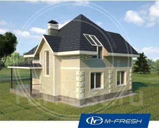 M-fresh Simple (Готовый проект 1-этажного дома с мансардой! ). 100-200 кв. м., 1 этаж, 4 комнаты, комбинированный