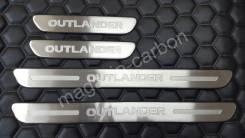 Накладка на порог. Mitsubishi Outlander