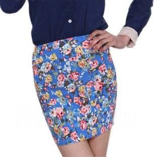 Цветная юбка мини