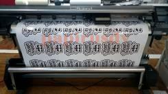 Печать наклеек, стикеров. Любой формы и сложности, резка пленки, винил