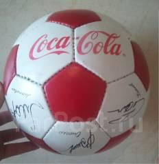 Мяч кожаный сувенирный 2002 года с автографами игроков сборной России