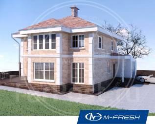 M-fresh Majesta Focus (Проект 2-этажного дома с витражами! Посмотрите). 200-300 кв. м., 2 этажа, 5 комнат, бетон
