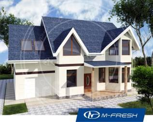 M-fresh Joker-зеркальный (Проект дома с эркером и гаражом). 200-300 кв. м., 2 этажа, 6 комнат, бетон