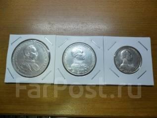 3 серебряные монеты Германской империи 1913г., Пруссия, Вильгельм II