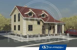 M-fresh Smart power (Проект дома для сильной жизни на природе! ). 200-300 кв. м., 2 этажа, 5 комнат, кирпич