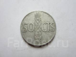 Испания 50 сентимо 1966 года