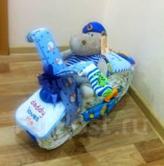 """""""Мотоцикл"""" из подгузников! Оригинальный подарок. Под заказ"""