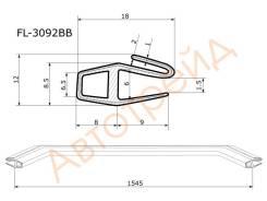 FL-3092BB FLEXLINE Молдинг лобового стекла VOLVO XC 60 08-