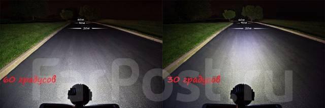 LED светодиодная круглая фара угол 60° диам 160мм
