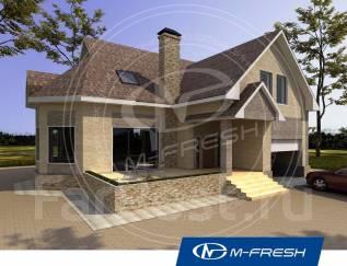 M-fresh Forest action (Проект дома с террасой и встроенным гаражом! ). 200-300 кв. м., 1 этаж, 5 комнат, бетон