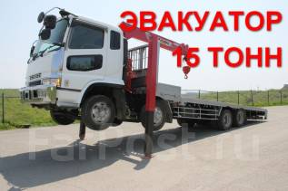 Mitsubishi Fuso. FUSO (грузовик, эвакуатор, cтрела UNIC 500) - в отличном состоянии!, 18 000 куб. см., 15 000 кг.