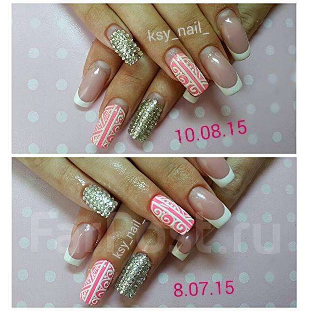 ручная роспись на ногтях фото