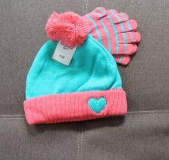 Шапка и перчатки. Рост: 80-86, 86-98 см