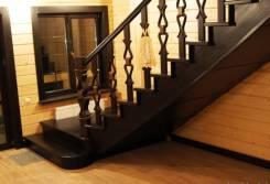 Производство лестниц из массива: для дома и улиц. Ступени, перила!