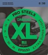 D`Addario EPS530 XL PRO Steel Струны для электрогитары Superlight 8-38