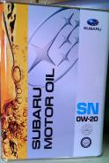 Subaru. Вязкость 0W20, синтетическое