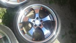 Убойный ХРОМ диски R18 5*100 с шинами 215/40 R18 Goodyear Eagle. 7.5x18 5x100.00 ET50 ЦО 70,0мм.