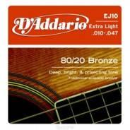D'Addario EJ10 Бронза 80/20 10-47 струны для акустической гитары