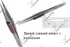Пинцет Proskit 1PK-119T. Длинный, с деревянными накладками.