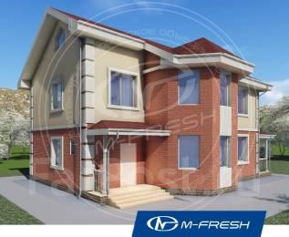 M-fresh Success plus-зеркальный (Проект дома с солнечным эркером! ). 200-300 кв. м., 2 этажа, 6 комнат, бетон