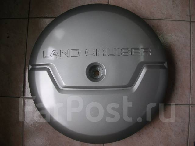 Чехол для запасного колеса. Toyota Land Cruiser Prado, TRJ125, RZJ120, LJ120, LJ125, KDJ125, TRJ120, GRJ120, KZJ120, GRJ125, KDJ120, RZJ125 Двигатели...