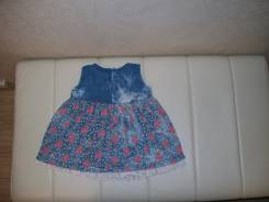 Платья джинсовые. Рост: 74-80 см