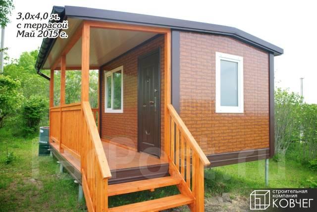 Строим дачный домик, бытовка, павильон, терраса, веранда, модуль, баня.