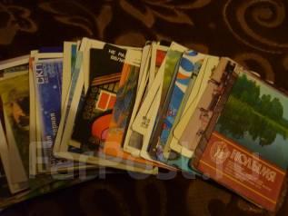 Календарики-коллекция -65шт за 80-90гг