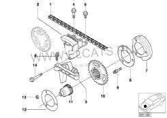 Цепь ГРМ. BMW: Z3, 5-Series, 3-Series, 7-Series, X5, X3 Двигатели: M54B22, M54B25, M54B30, M54