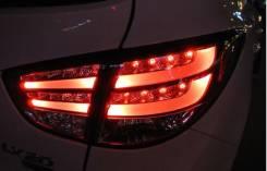 Стопы (фары) «BMW Design» для Hyundai Tucson Ix35 (прозрачные, красные. Hyundai ix35 Hyundai Tucson