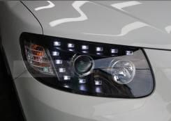 Альтернативная оптика (фары) «AUDI Q7 Style» для Hyundai Santa Fe 2006. Hyundai Santa Fe, CM Audi Q7