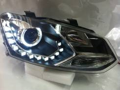 Альтернативная оптика (фары) «Eagel Eye» для Volkswagen Polo (черные)