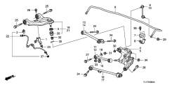 Рычаг подвески. Honda Inspire, DBA-CP3 Honda Accord, CW2, CU2, DBA-CU2 Honda Accord Tourer, DBA-CW2, CW2 Acura TSX Двигатели: J35Z2, N22B1, N22B2, R20...