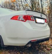 Накладка диффузор на задний бампер (ABS пластик) Honda Accord 8 Acura. Honda Accord, CU2 Acura TSX