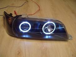 Фары тюнинг Toyota Chaser JZX100 линза - ангельские глазки