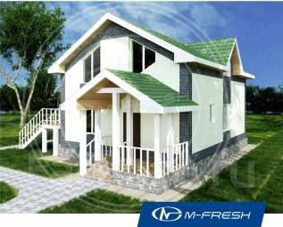M-fresh Beautiful life (Готовый проект дома с летней мансардой! ). 100-200 кв. м., 1 этаж, 4 комнаты, бетон